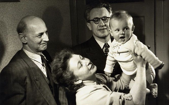 Otto Babyzimmer ~ Otto frank admiring miep and jan giess baby son paul 1951. jan