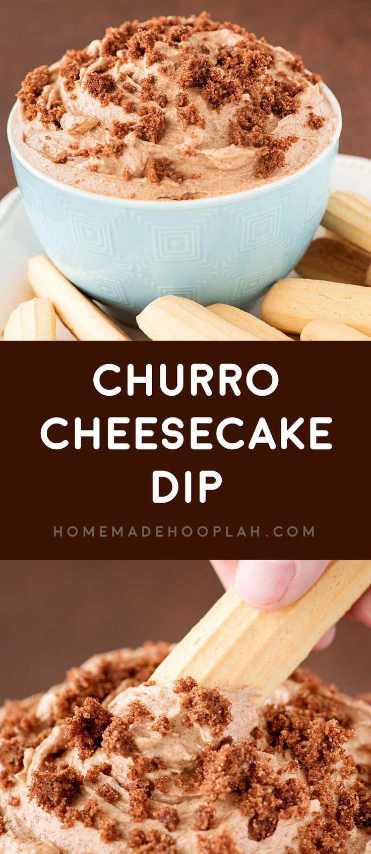 Churro Cheesecake Dip