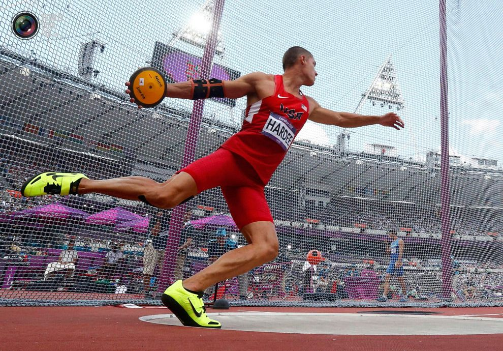 Day 13 Trey Hardee of the U.S. competes in the men's