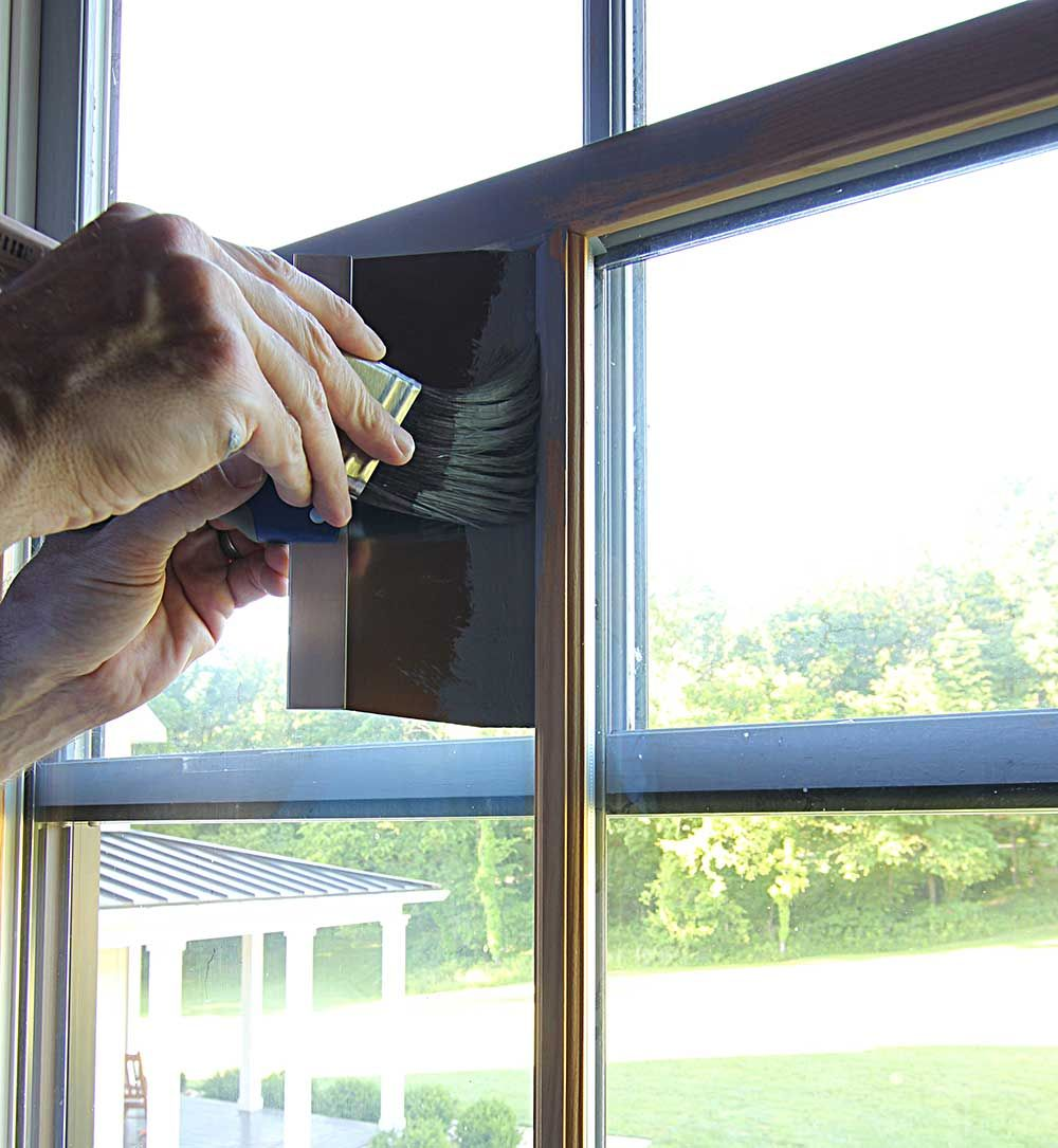 How to Paint Windows Black No Taping Required Window