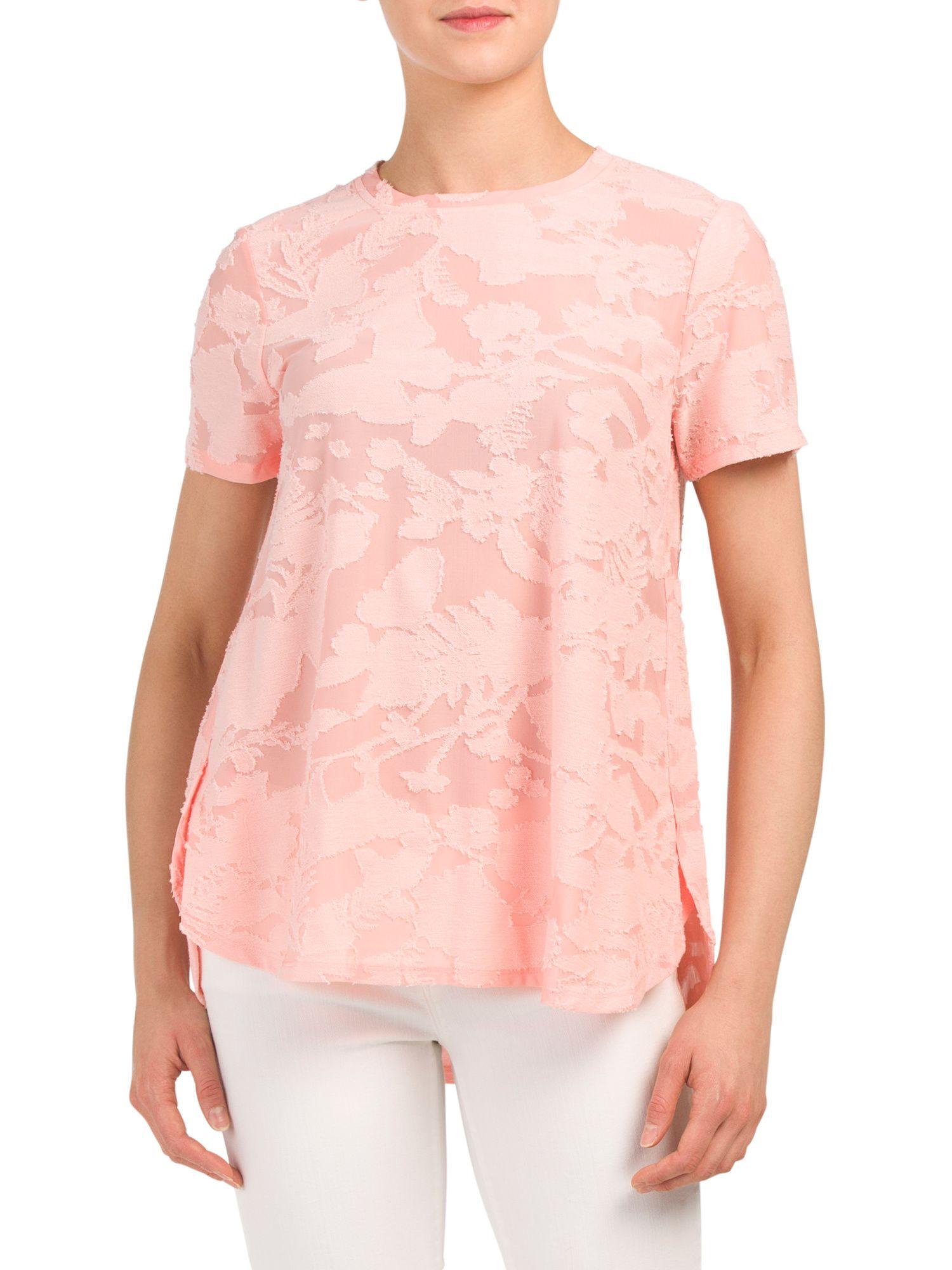 Short Sleeve High Low Shirt Tail Hem Top Shirt Tail Hem Shirt Tail High Low Shirt