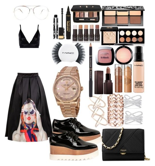 """Fashion show"" by madisonkiss on Polyvore featuring Boohoo, Effy Jewelry, Sephora Collection, NYX, Givenchy, MAC Cosmetics, Laura Mercier, L'Oréal Paris, Michael Kors and STELLA McCARTNEY"