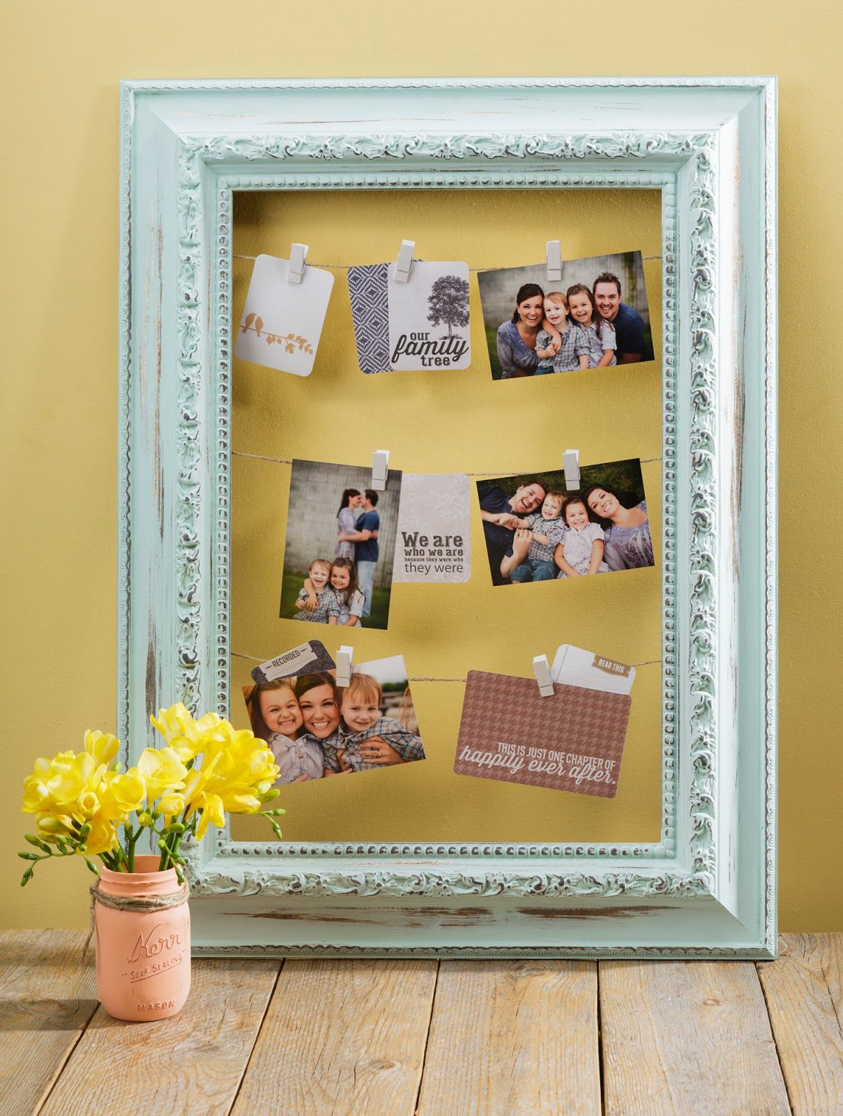 Americana Decor\'s Chalky Finish Paint Open Back Frame Project by ...