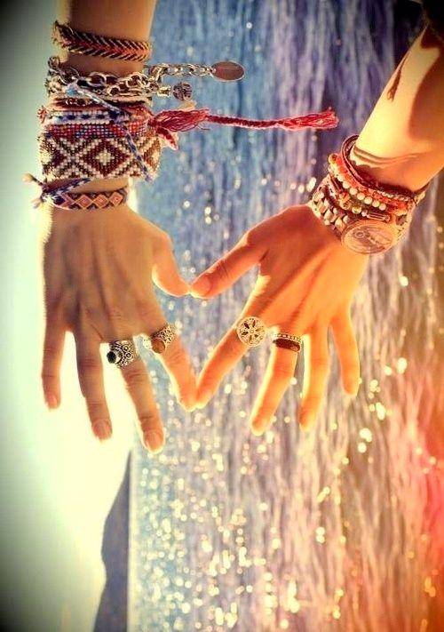 summer boho bracelets.. always wanted a bunch but they're like 10 bucks EACH!!