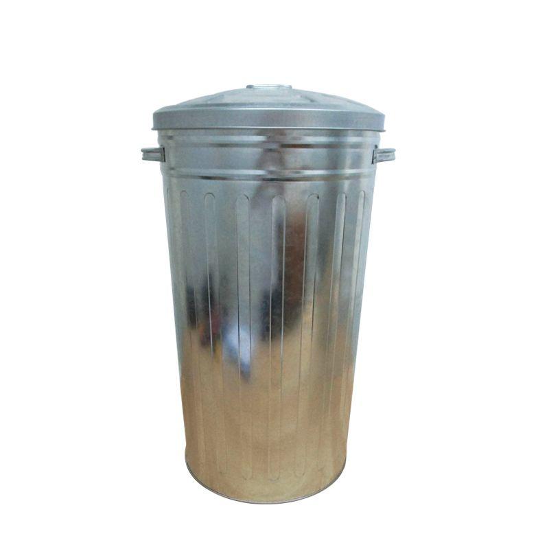 50l Galvanized Steel Kitchen Garbage Bins For Sale Trash Bin