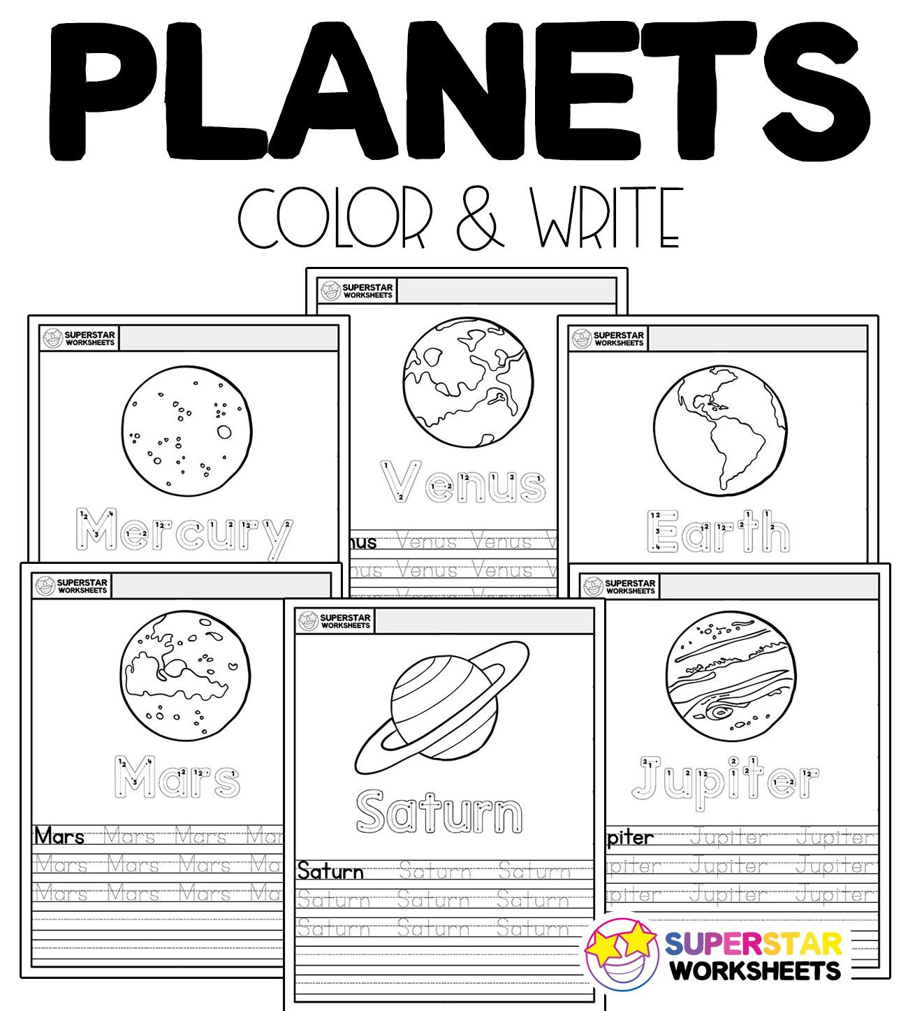 Free Planets Worksheets In