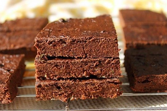 Vegan Chocolate Chip Zucchini Brownies