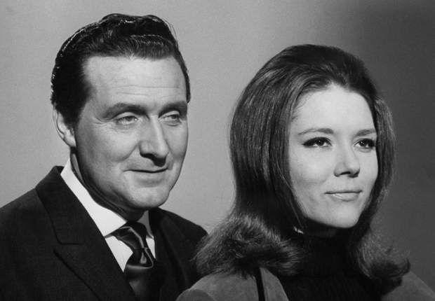 Patrick MacNee et Diana Rigg en 1966