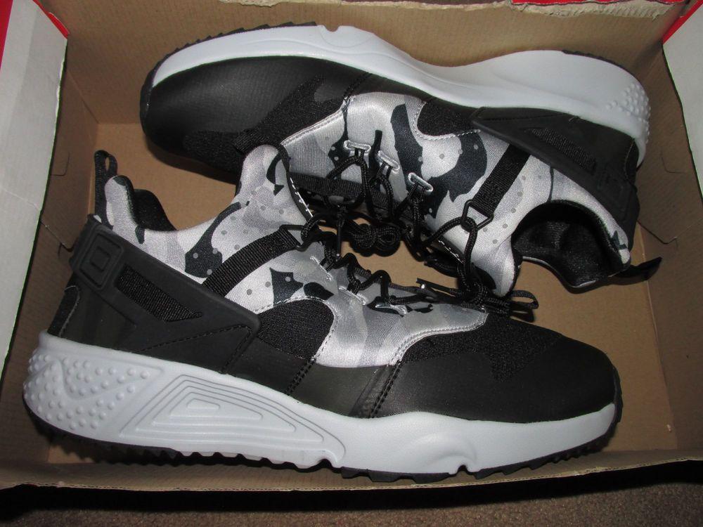 cheap for discount 3671f f352a Nike Air Huarache Utility Mens Trail Running Shoes 9.5 Pure Platinum 806807  001 Nike RunningCrossTraining