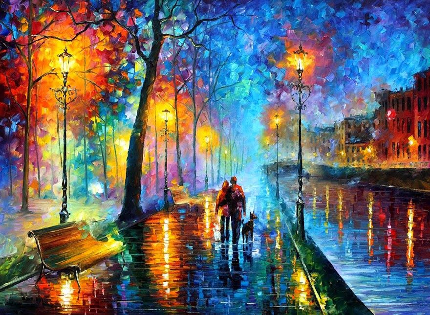 The Fusion Colors In Leonid Afremov s Nostalgic Oil Paintings
