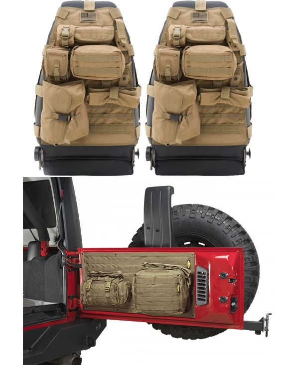 Smittybilt Front GEAR Seat Covers With Tailgate Cover For 07 16 JeepR Wrangler