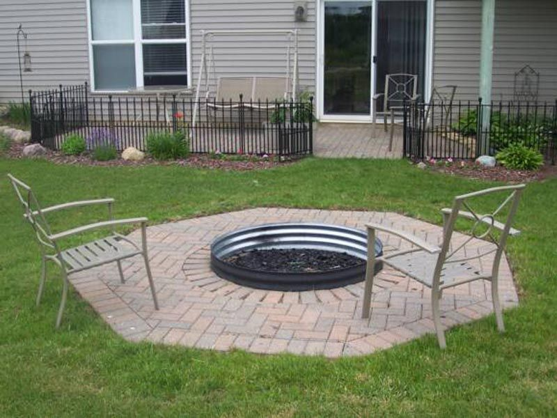 Square Fire Pit Liner Outdoor Fire Pit Fire Pit Backyard Diy Fire Pit Backyard
