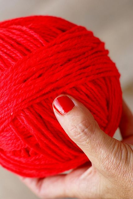 #red wool from woodwoolstool #theredmakesit