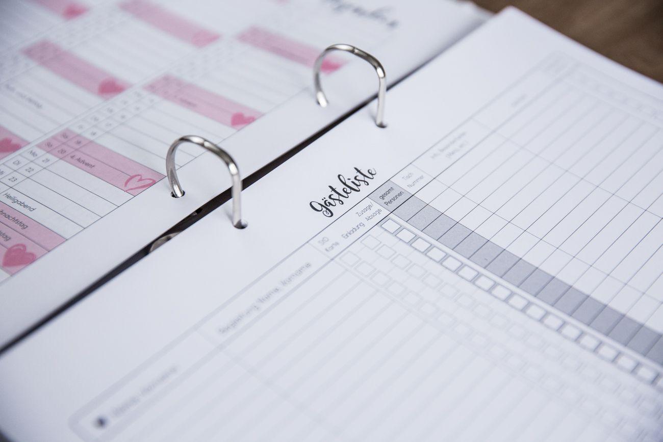 Hochzeitsplaner Ordner mit Checklisten