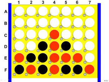 Connect4 powerpoint template create your own review game gaming connect four powerpoint template classroom game toneelgroepblik