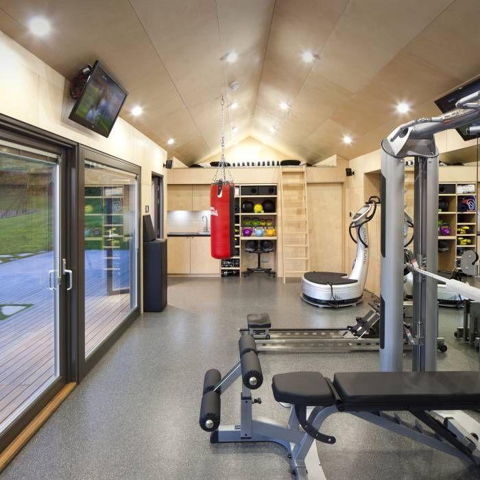 Fitnessraum modern  インテリア・レイアウト実例・収納 写真 | Rund ums haus, Runde und ...