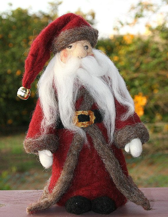Needle Felted Santa Claus