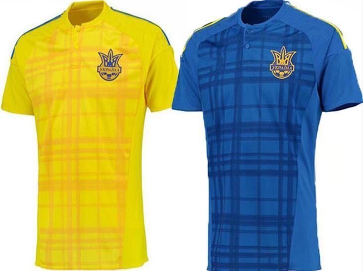 bf099d382fc 2016 Ukraine National Team Soccer Jerseys 2016 EURO Ukraine Home Away  Football Shirt Top Thailand 16 17 SHEVCHENKO Jersey Online with   13.51 Piece on ...