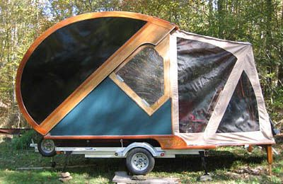 Tiny Camping Trailers tiny trailer meets 50s spaceship 1957 caravan one of five in existance source Camping Trailer Teardrop Folding Camping Trailers Archives Travel Gadgets Travelizmo