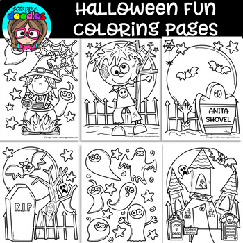 Free Halloween Fun Coloring Pages Cool Coloring Pages Halloween Fun Halloween Coloring Book