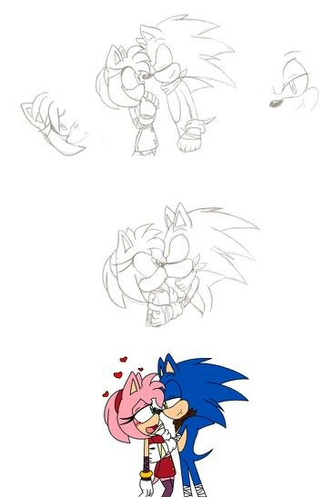Sonic Kissed Amy Rose Boom Sonic Art Sonic Boom Sonic And Amy