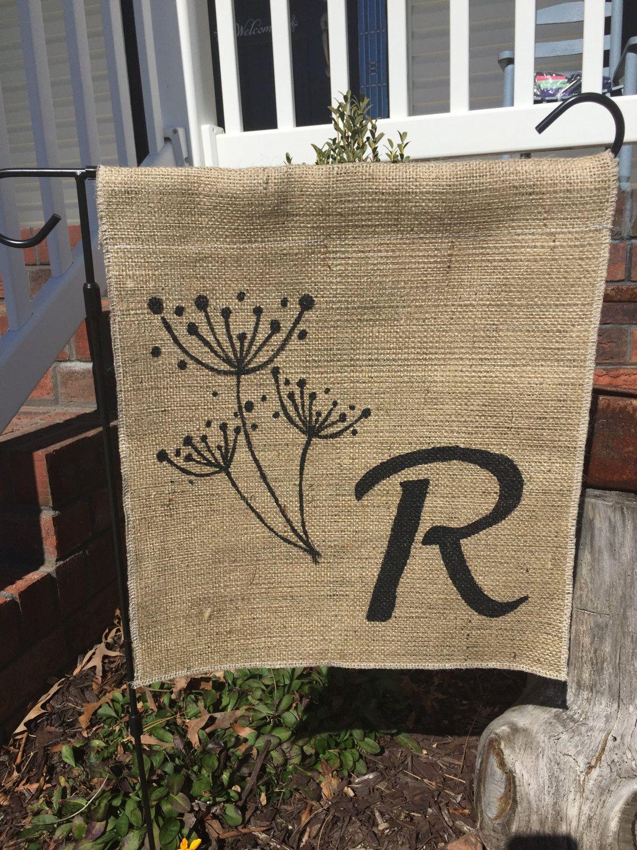 Dandelion Spring and Summer Decor FLOWER Monogram Family Name Custom ...