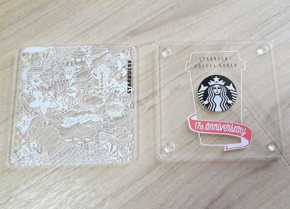 Starbucks Korea 2016 17th Anniversary coaster set_2pcs #StarbucksKorea
