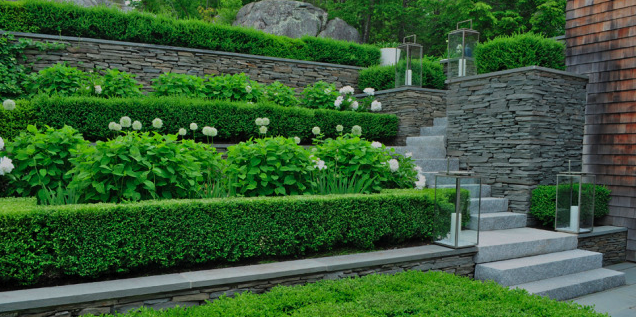 A Terraced Garden At Manchester By The Sea, Massachusetts, U. Designed By  Robin Kramer Garden Design From The Same Village As This Garden.