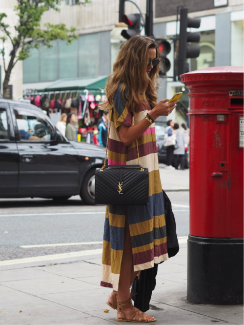justthedesign:  Wearing bold and bright stripes is the perfect...