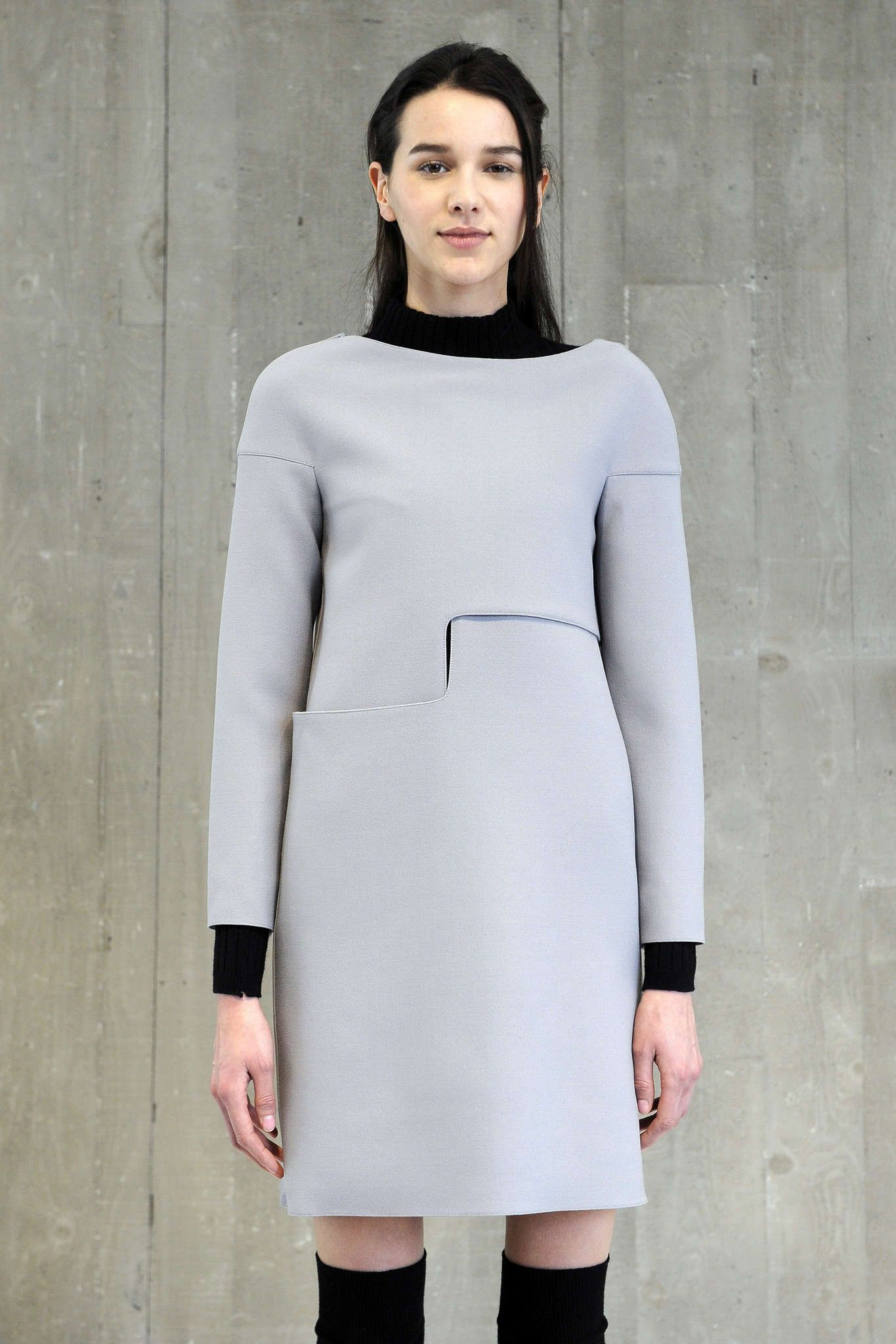 Innovative Pattern Cutting - structured dress with geometric cut; contemporary fashion // Courreges A/W 2015