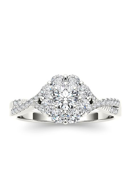 17 Best Images About In Love By Brides On Pinterest Halo 2 Carat And White  Gold
