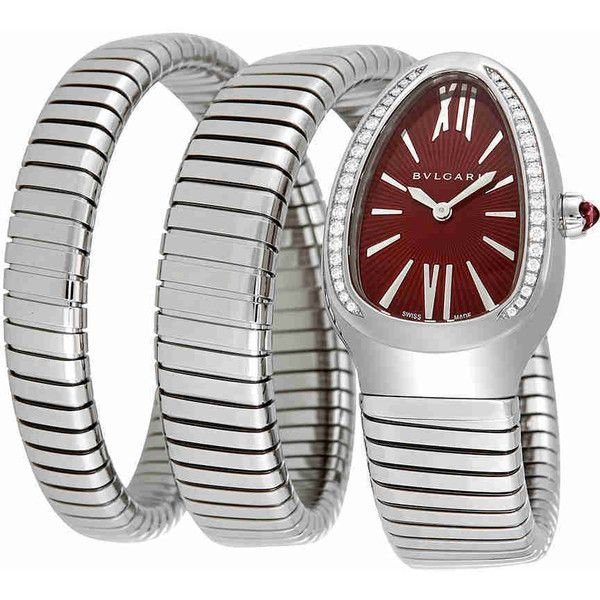 dea4a2be0b4 Bvlgari Serpenti Tubogas Red Lacquered Dial Ladies Watch (23.180 BRL) ❤  liked on Polyvore featuring jewelry