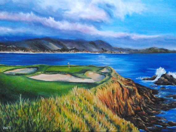 cool things to paint pebble painting golf course california 31375