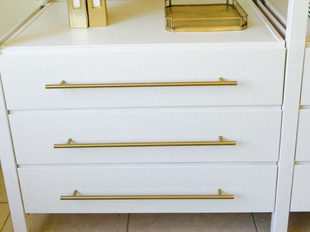 Pin On Satin Brass Drawer Pulls