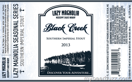 Lazy Magnolia - Black Creek Southern Imperial Stout Coming Late Dec