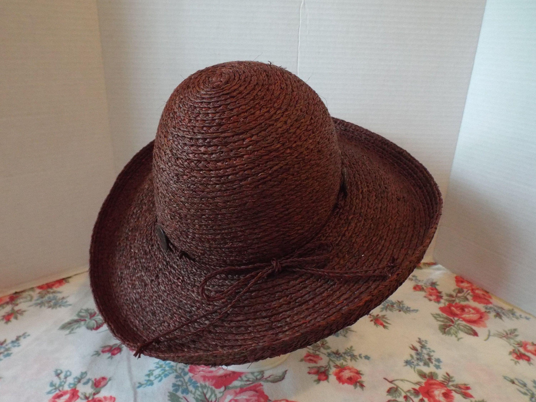 Brown Summer Wide Brim Hat Etsy In 2021 Wide Brim Hat Brim Hat Wide Brimmed