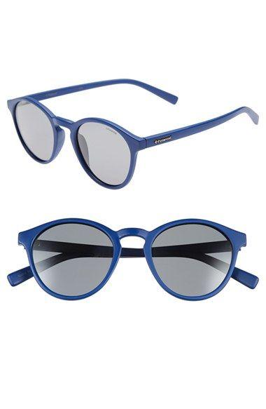 be39f35157 Men s Polaroid Eyewear  1013S  50mm Polarized Retro Sunglasses - Matte  Blue  Grey