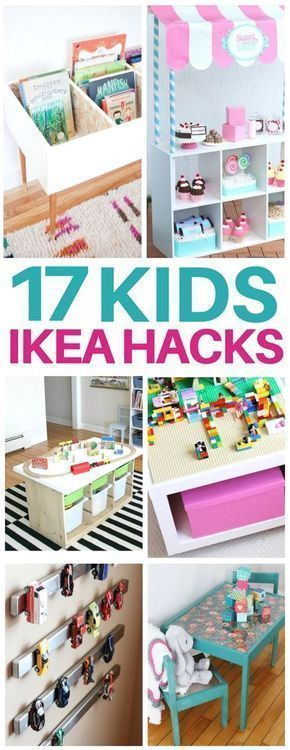 This list of kids ikea hacks is EXACTLY what I needed to redo my kids bedroom! Adorable diy furniture ideas like craft tables, kids toy organization, bookshelves, lego tables, and even play kitchens for so cheap! I am totally making the activity table that's under $40! #ikeahacks #kidsroom #kidfurniture #redoingfurniture