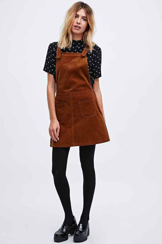 Urban outfitters black pinafore dress