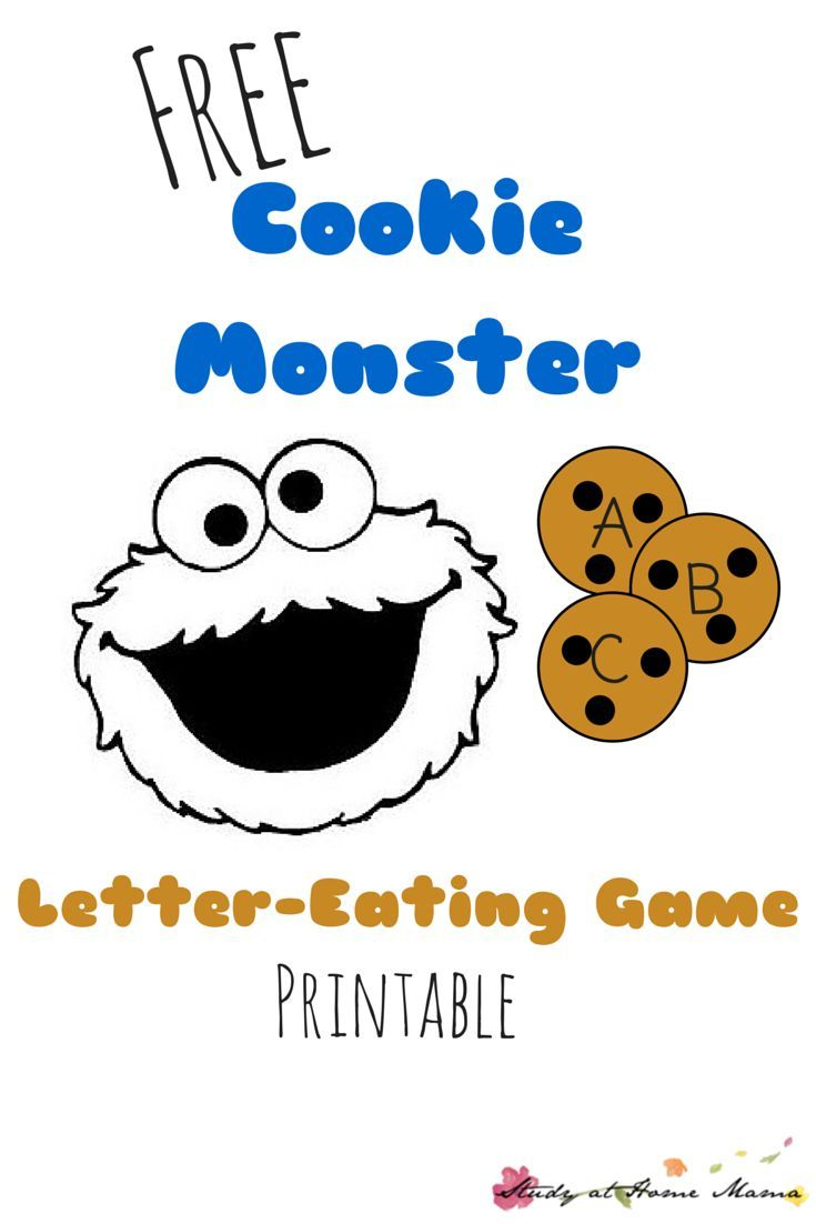 LetterEating Cookie Monster Printable Game  Cookie Monster