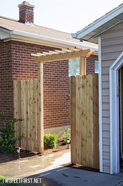 How To Build A Fence Pergola Outdoor Pergola Pergola Patio Pergola Plans