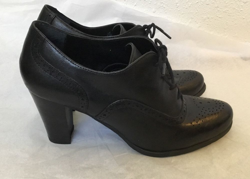 Brynn Bootie Lace Up Oxford Heels