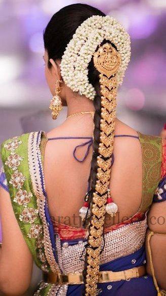 783196f2a787c54d6436b6c005e686ef 328x584 South Indian Wedding HairstylesBride