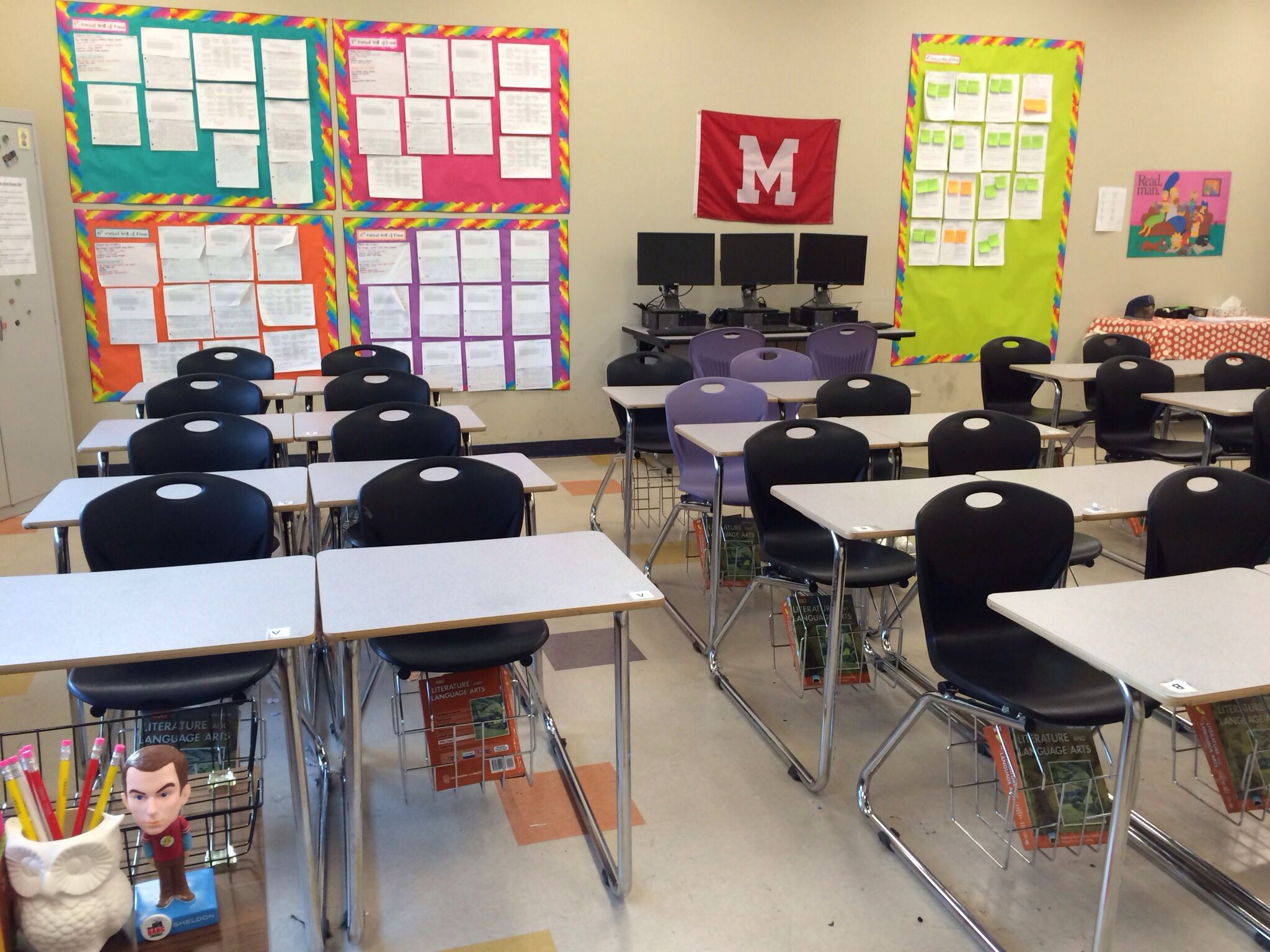 Modern Classroom Blocks ~ High school classroom organization arranging the desks