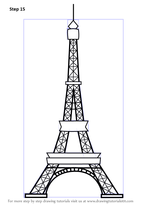 how to draw an eiffel tower step by step learn drawing by this tutorial for kids and adults