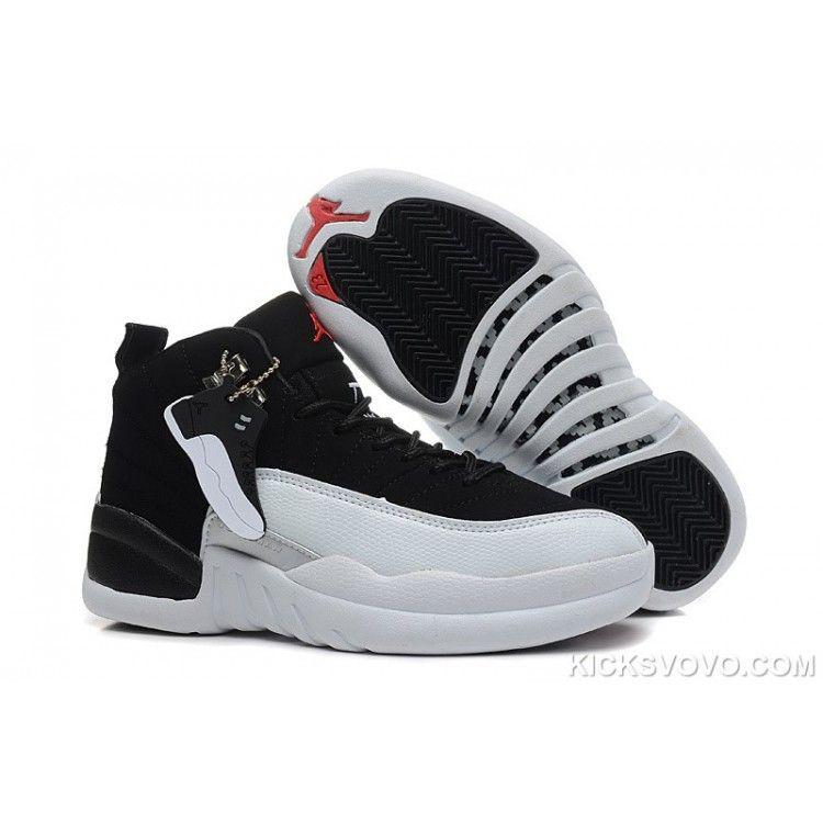 Black · Women's Air Jordan 12 Air Sole High Black White ...