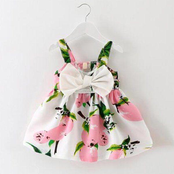Newborn Kids Baby Girls Sleeveless Floral Dress Party Clothes Summer Sundress UK