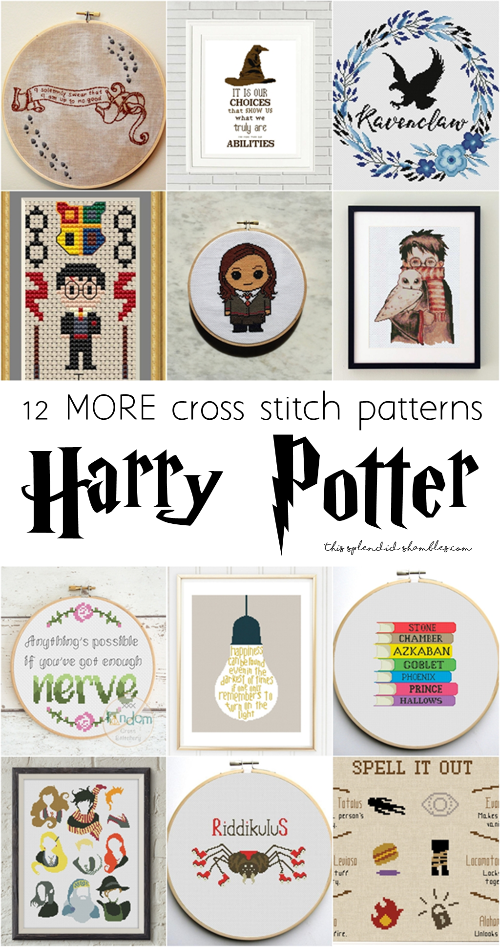 12 MORE Harry Potter Cross Stitch Patterns for all those geeky ...