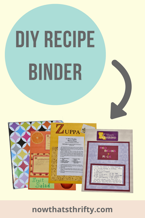 Make Your Own Recipe Binder Scrapbook Style Recipe