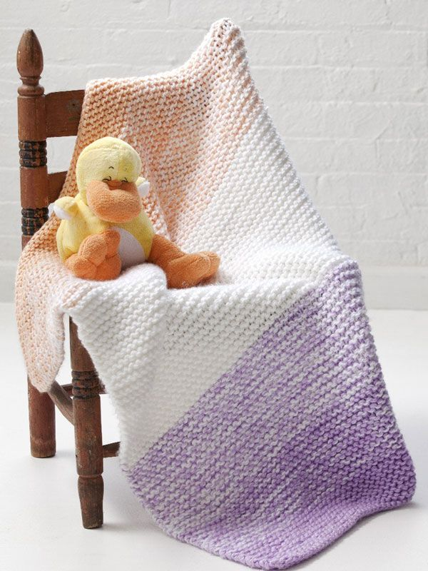 Caron International | Free Project | Soft \'n Simple Baby Blanket ...